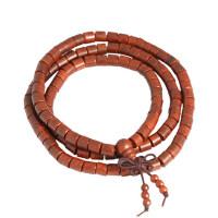 印度小叶紫檀108颗桶珠佛珠手串 念珠民族风女款手链