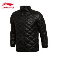 李宁男装运动生活系列保暖修身型短款棉服棉衣AJMK053