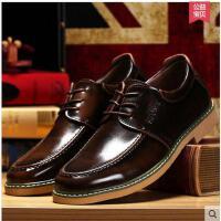 古奇天伦英伦潮流亮面皮鞋复古系带商务休闲男鞋潮GH6806