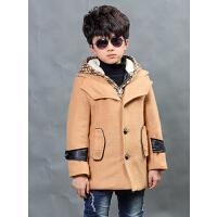 时尚休闲潮流男童韩版时尚童装呢子大衣呢外套上衣新款