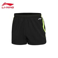 李宁男子夏季跑步系列速干平口运动短裤运动服AKSL041