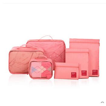 旅行收纳袋6件套旅游行李箱整理包便携衣服内衣物