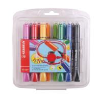 STABILO 思笔乐 圈圈乐水彩笔 易水洗儿童绘画涂鸦画笔168/12-2 当当自营