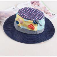 新款可折叠太阳帽百搭时尚韩版遮阳帽时尚儿童防晒沙滩帽子