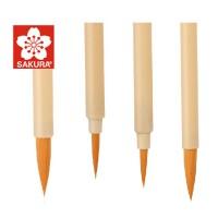 日本Sakura/樱花面相笔 水彩画笔 毛笔 樱花勾线笔 漫画笔上色笔, 高强度塑料笔杆,耐用 ◆ 尼龙笔毛,柔软有弹性,吸水性好 ◆ 塑料笔杆,使用起来很轻便!