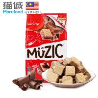【马来西亚进口】马奇新新妙乐巧克力味夹心威化饼干90g