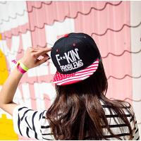 新款时尚户外韩版潮帽子女情侣帽子男士鸭舌帽