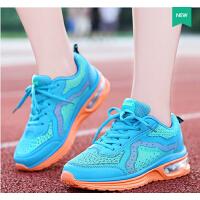 莫蕾蔻蕾  夏季新款运动休闲跑步鞋圆头系带内增高女鞋低帮鞋
