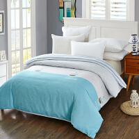 当当优品 纯棉斜纹床上用品 被罩 150*220cm  波尔尼(蓝)