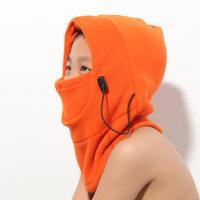 儿童防寒抓绒帽子 多功能面罩 抓绒保暖防风防霾面罩