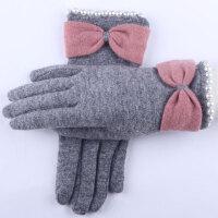 新品时尚羊毛显瘦单层 保暖羊毛手套女士休闲手套