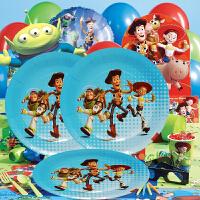 孩派 儿童生日派对装饰用品 小孩派对布置道具 玩具总动员主题