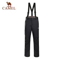 camel骆驼户外滑雪裤男女情侣款冬季户外运动滑雪保暖长裤