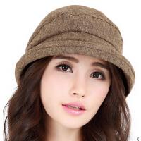韩版时装女帽休闲礼帽  新款卷边贝雷帽子女时尚