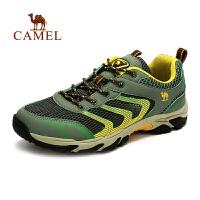camel骆驼户外男款徒步鞋 新款透气网鞋 耐磨防滑运动徒步鞋