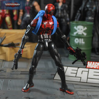 Marvel复仇者联盟暗黑蜘蛛侠毒液究极蜘蛛侠漫画版超可动人偶模型