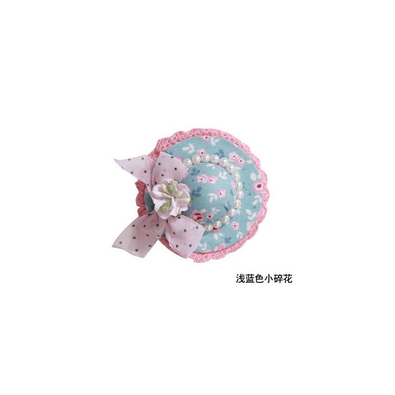 小发夹顶夹卡子头饰发饰 儿童边夹侧夹可爱蕾丝帽子