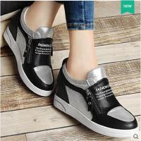 古奇天伦内增高女鞋 新款韩版 平底单鞋女休闲运动鞋子潮8338
