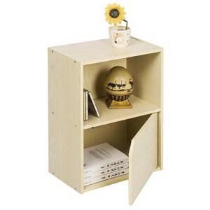 [当当自营]慧乐家 二层单门柜11204 木纹色 储物收纳柜子 书柜书架