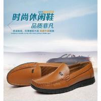古奇天伦男鞋韩版大码套脚鞋一脚蹬懒人鞋潮鞋休闲男皮鞋60076007