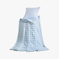 当当优品家纺 水洗棉裸睡夏凉被 150x200双人空调被 俏丽(蓝)