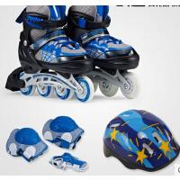 男女可调闪光蜘蛛侠溜冰鞋    时尚休闲运动  成人直排轮滑鞋   儿童全套装旱冰鞋