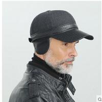 时尚户外保暖帽子男士户外韩版老人护耳帽中老年毛呢棒球帽棉帽