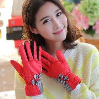 手套女 户外防风保暖加厚双层摩托车骑车女士手套