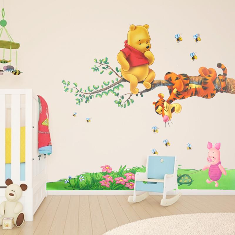 可爱趣味卡通墙贴 幼儿园儿童房卧室床头背景墙装饰