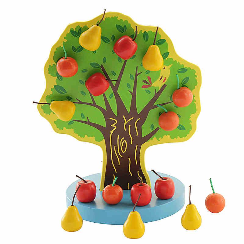 磁性圣诞树 苹果树玩具 智力玩具 儿童认知玩具 木制快乐果园
