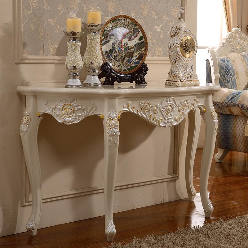 【凯玫莎层架置物架】凯玫莎欧式玄关桌实木玄关柜台