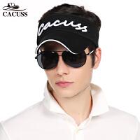 新品CACUSS夏季户外防晒空顶遮阳帽太阳帽帽子男女式夏天网球帽K0005