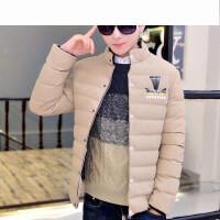 青少年棉衣男新款时尚舒适学生韩版潮立领修身棉服
