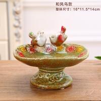 欧式香皂托皂盒摆件 客厅酒柜装饰品 创意果盘陶瓷工艺品结婚礼物