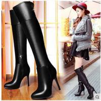 邻家天使新款瘦腿弹力靴 过膝靴细跟长筒靴高跟长靴高筒女靴子5307-3