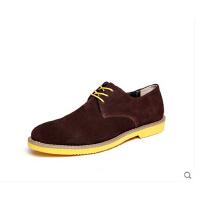 男士休闲皮鞋 四季新品牛反绒休闲男鞋 男士平跟休闲皮鞋