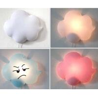 普润 时尚云朵壁灯小夜灯客厅灯卧室灯过道灯创意灯具 儿童房灯 卡通装饰灯颜色随机