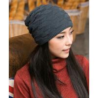 时尚百搭潮流女帽子  韩版潮针织帽双层保暖毛线帽
