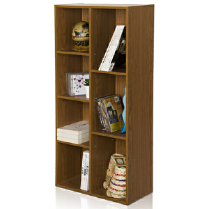 [当当自营]慧乐家 鲁比克七格柜11048 深红樱桃木色 书架书柜 收纳储物柜子 优品优质