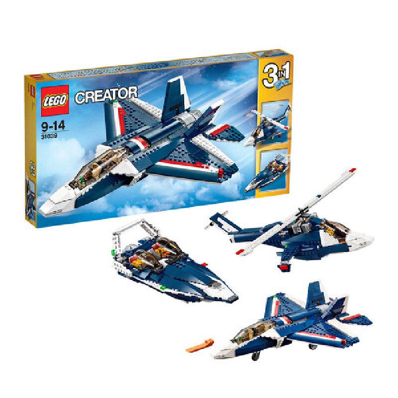 [当当自营]LEGO 乐高 CREATOR创意百变系列 蓝色能量喷气飞机 积木拼插儿童益智玩具 31039【当当自营】适合9-14岁,608pcs小颗粒积木