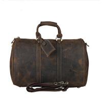 欧美潮款复古手提包头层牛皮商务大容量 旅行包疯马男士真皮行李包