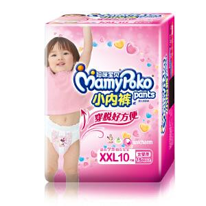 [当当自营]妈咪宝贝 小内裤 拉拉裤(裤型) 尿不湿 女XXL10P(适合15kg以上)