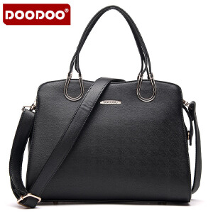 DOODOO 2017新款包包女包手包欧美风OL定型包时尚单肩包手拎斜跨女式包包 D5024 【支持礼品卡】