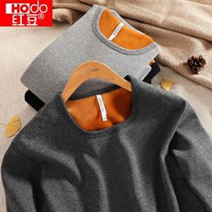 红豆保暖内衣套装加厚加绒女男士秋衣秋裤中老年秋冬季中高领黄金绒甲
