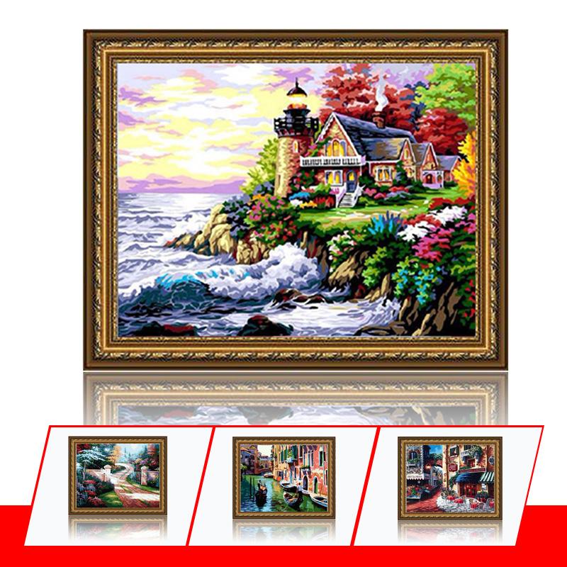 舞动色彩 diy数字油画风景彩绘装饰画