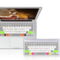 苹果笔记本键盘膜 12寸 macbook air11寸 air13寸 pro13寸 retina13寸 retina15寸 超薄 防水 进口硅胶 快捷键键  盘膜 MacBook Air/pro/retina Mac os快捷键键盘膜