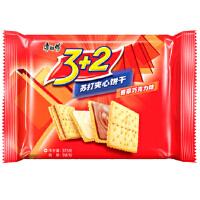 [当当自营] 康师傅 3+ 2苏打 夹心 香草巧克力 饼干 375g