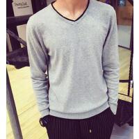 新款个性时尚线衣  韩版修身针织衫V领光版潮男士休闲长袖毛衣