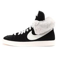 NIKE/耐克BLAZER HIGH 冬季新款女子运动鞋休闲高帮板鞋反毛皮585561-002