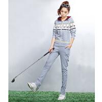潮流 显瘦 时尚运动套装新款棉衣运动 透气女运动服套装开衫带帽